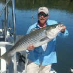 Our Guide Catches a Striper