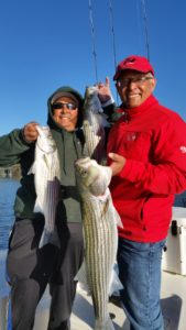 Triple Striped Bass Action on Lake Lanier