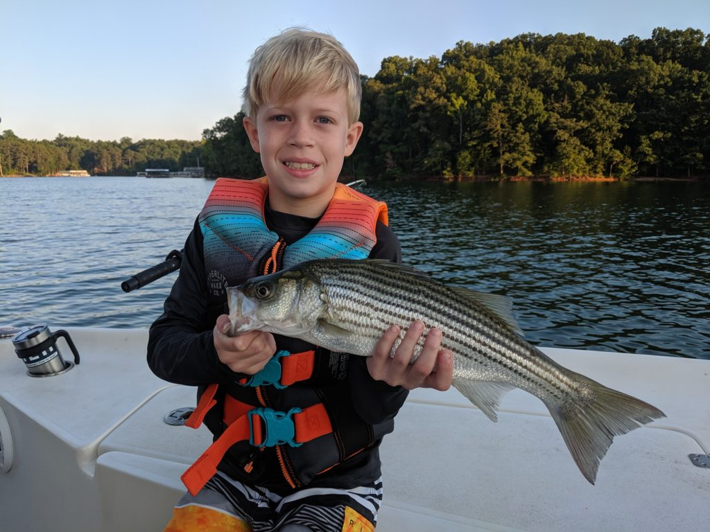 Kids love Lanier Fishing