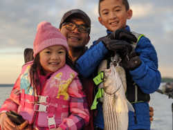 Family Striper Fishing on Lanier