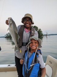Family Lake Lanier Striper Fishing