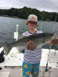Kids Love Fishing Lake Lanier Striper