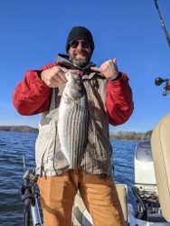 Winter Lake Lanier Striper Fishing