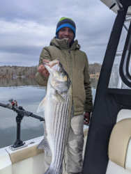 Great winter Lake Lanier Striper