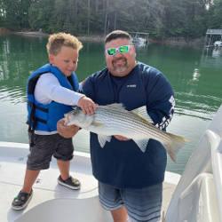 Families Fishing on Lake Lanier