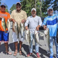 Lots of Fun Catching Striper on Lake Lanier